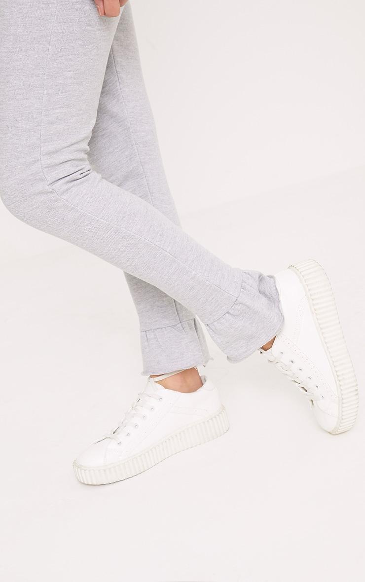 Nilda Grey Frill Hem Track Pants 5