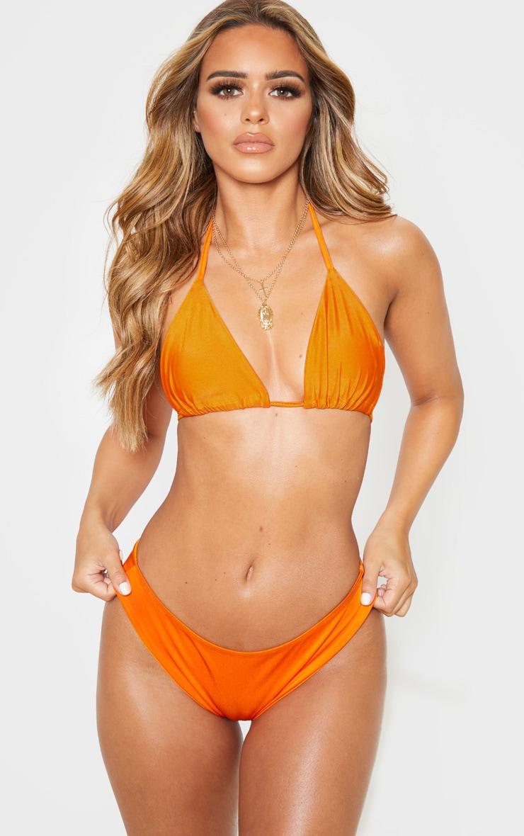 Petite - Haut de maillot de bain triangle orange Mix & Match 1