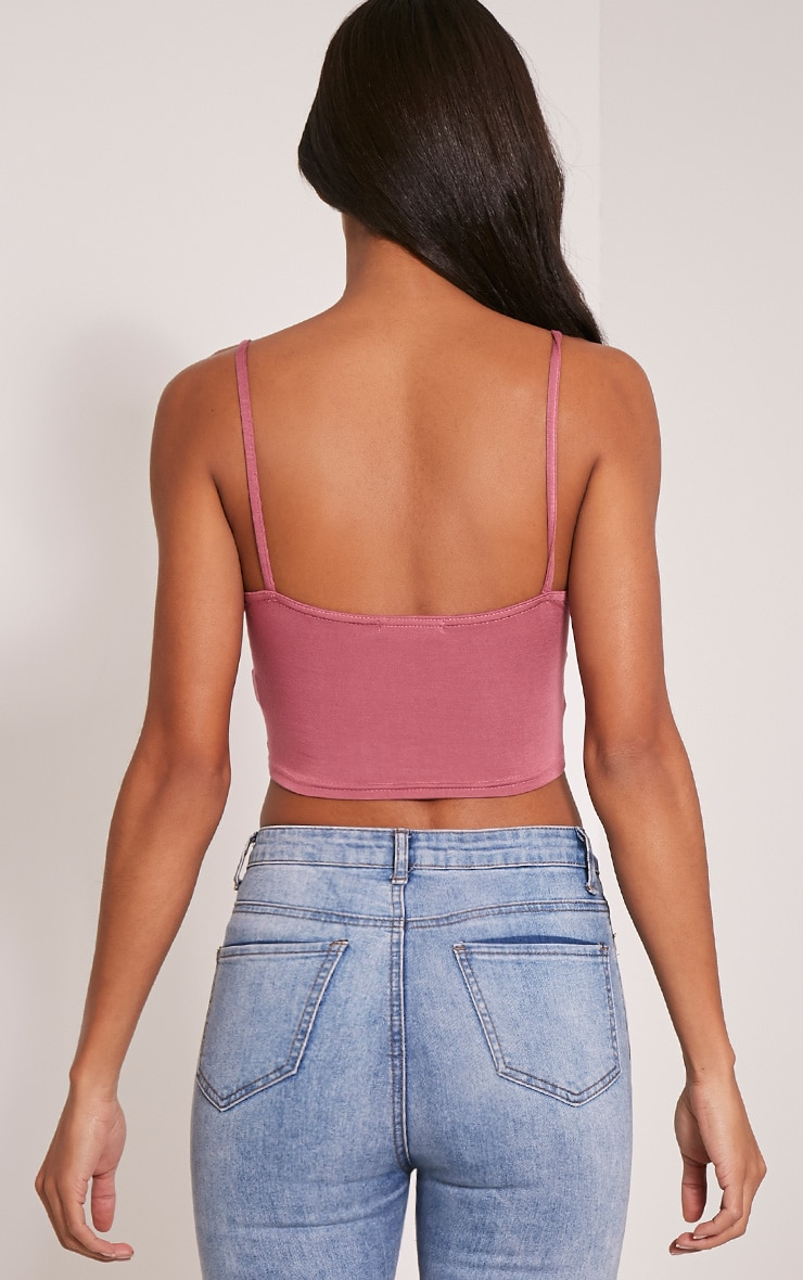 Basic Rose Jersey Bralet 2