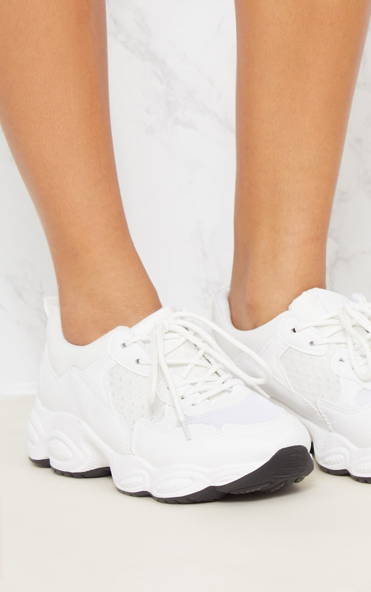 White Chunky Sneakers 6