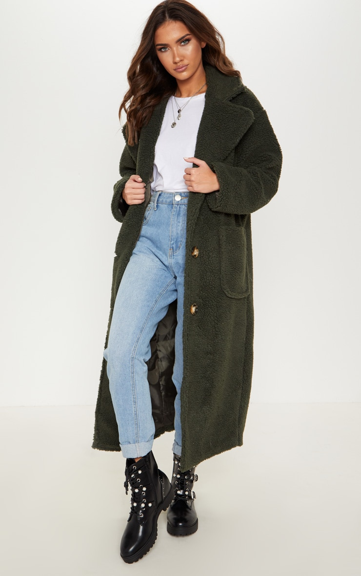 Green Borg Longline Coat  1