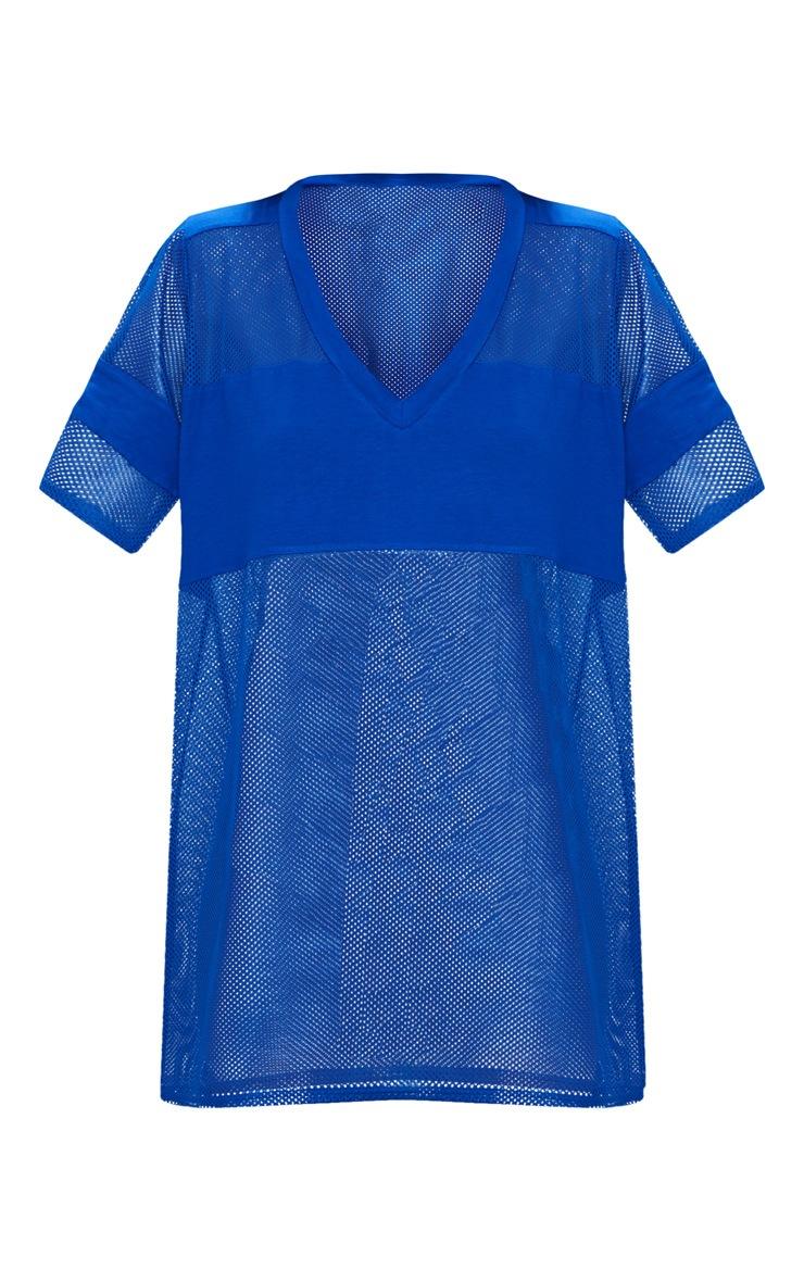 Cobalt Airtex Mesh T Shirt Dress 3