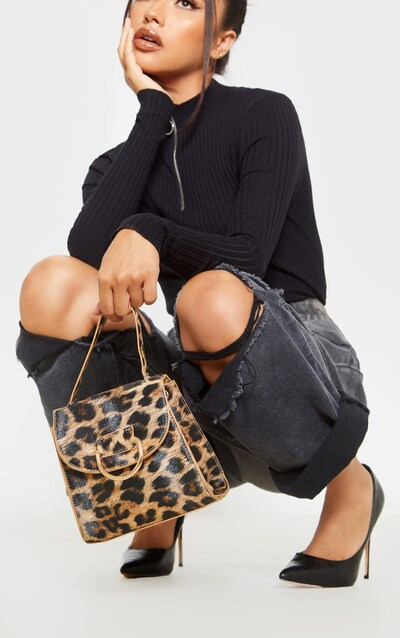 Leopard Ring Detail Mini Bag