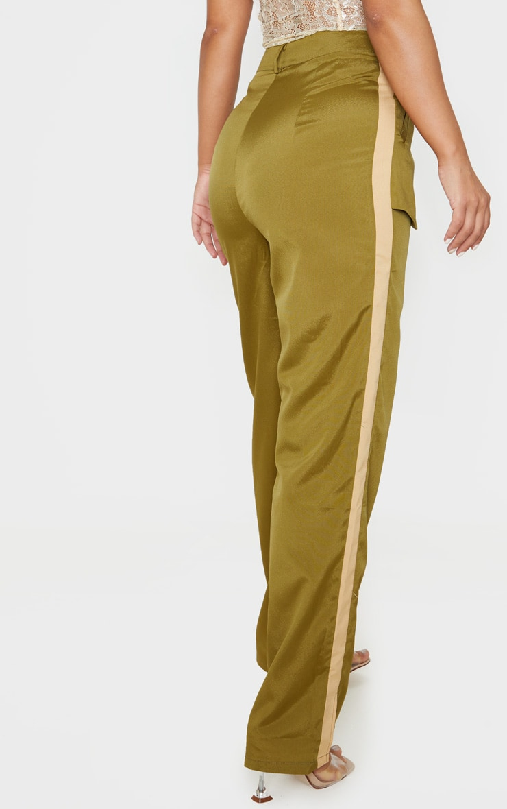 Petite Khaki Inside Out Pocket Trouser  4