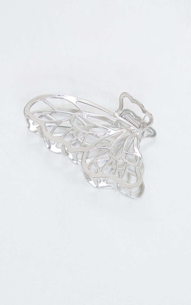 Silver Butterfly Hair Clip 2