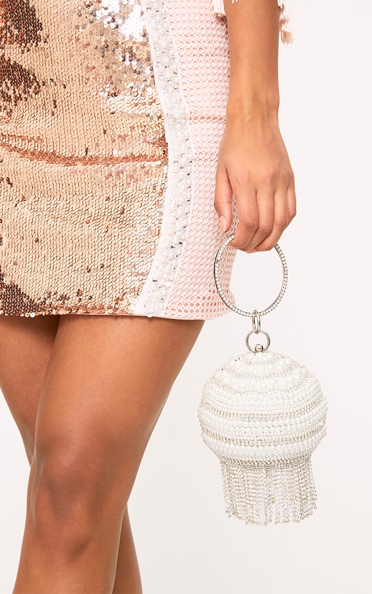 Pearl Embellished Spherical Bag 1