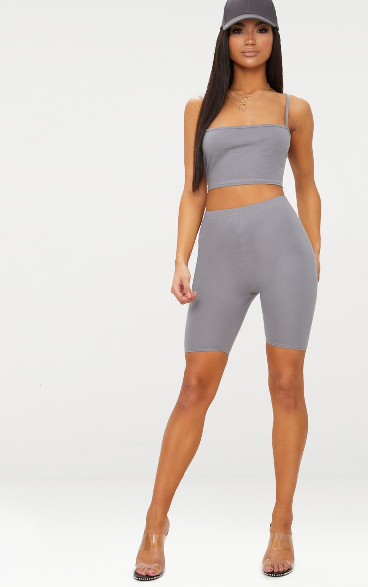 Charcoal Grey Basic Cycling Shorts 1