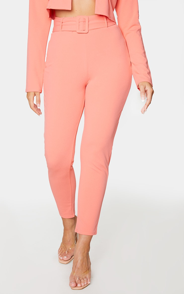 Coral High Waisted Belted Trouser 2