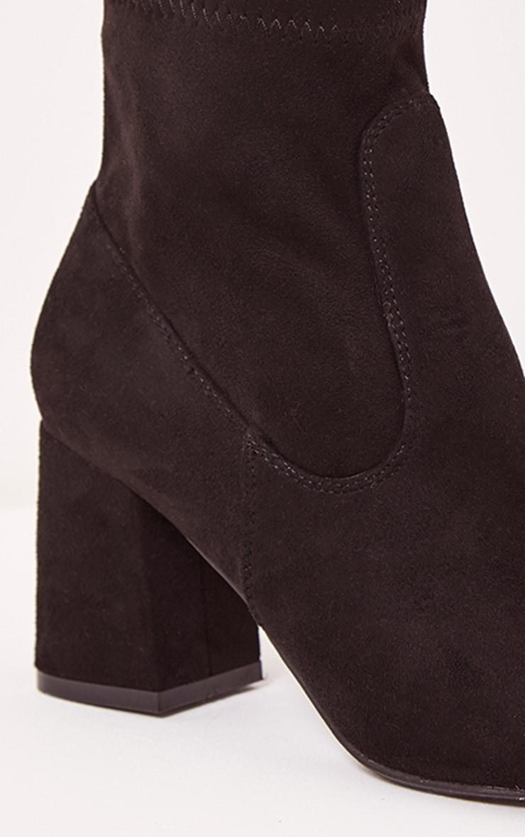 Hayden bottines noires imitation daim 6