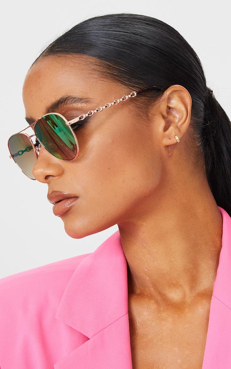 Pink Ombre Lens Aviator Sunglasses 1