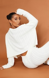 Cream Cable Knit Sweater & Legging Set 4