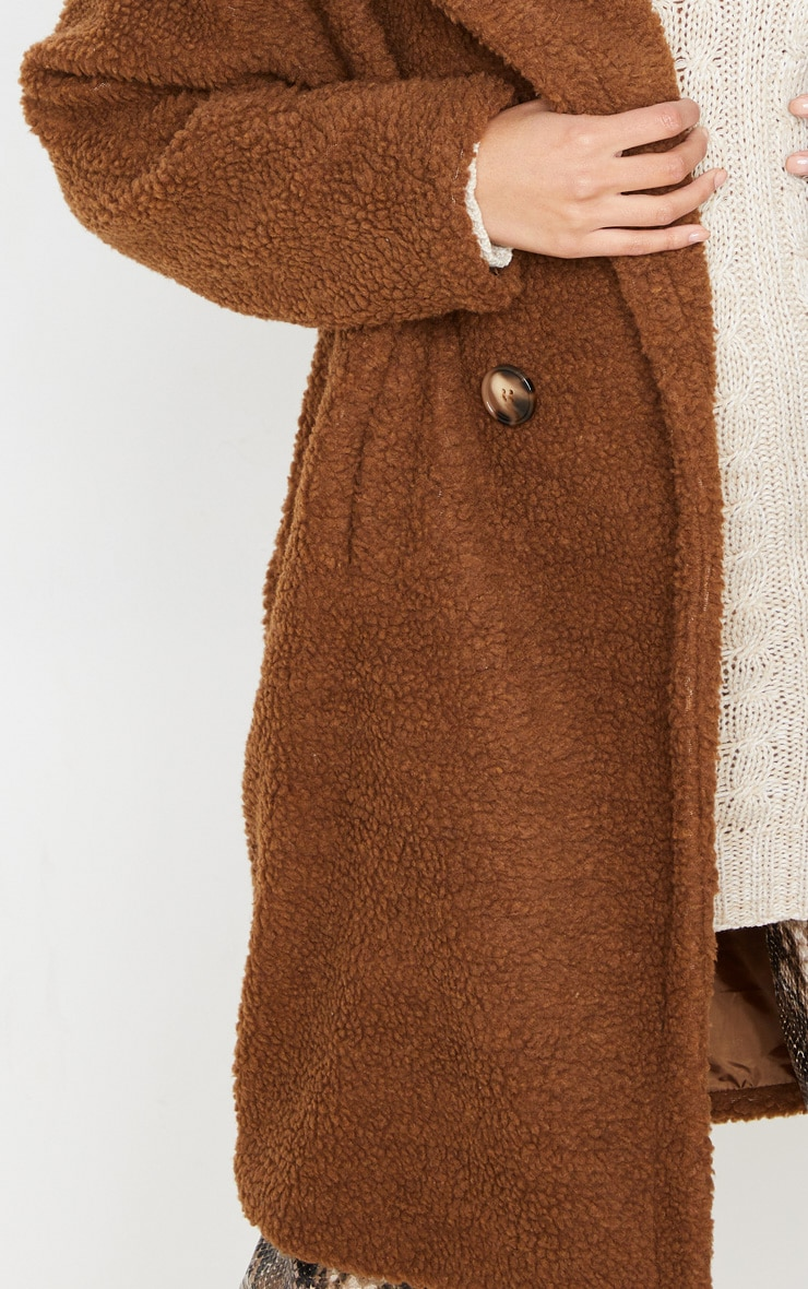 Chocolate Borg Drop Arm Midi Coat 5