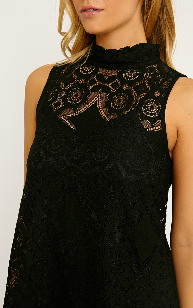 Kelsey Black Lace Shift Dress 5