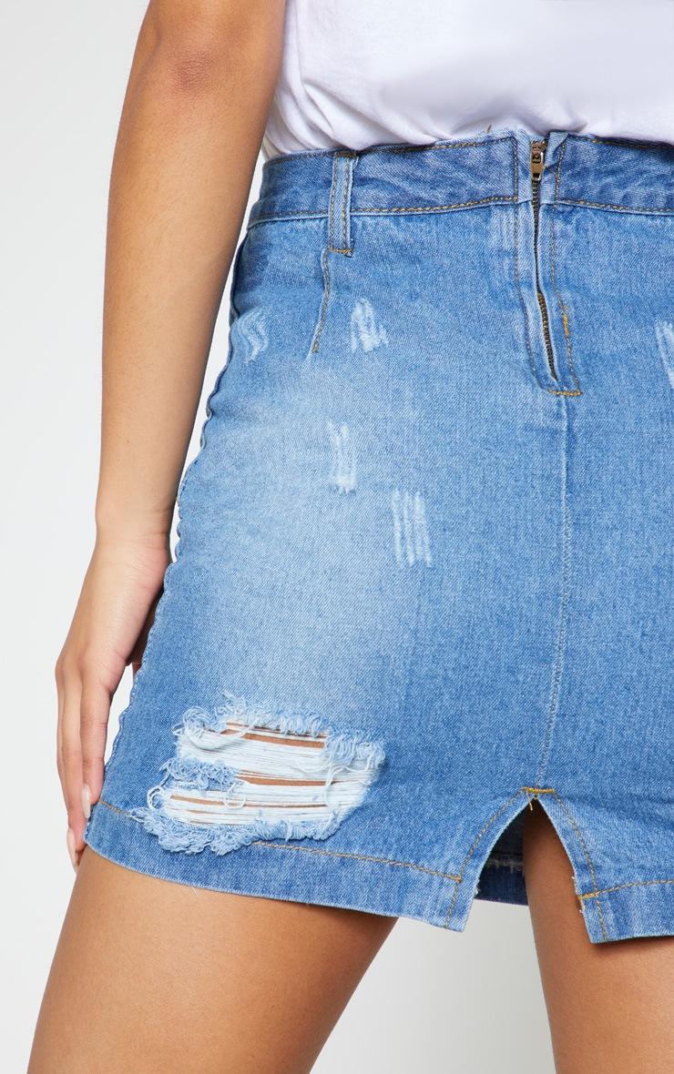 3b7e05fdab080f High Waisted Jean Short Skirt – DACC