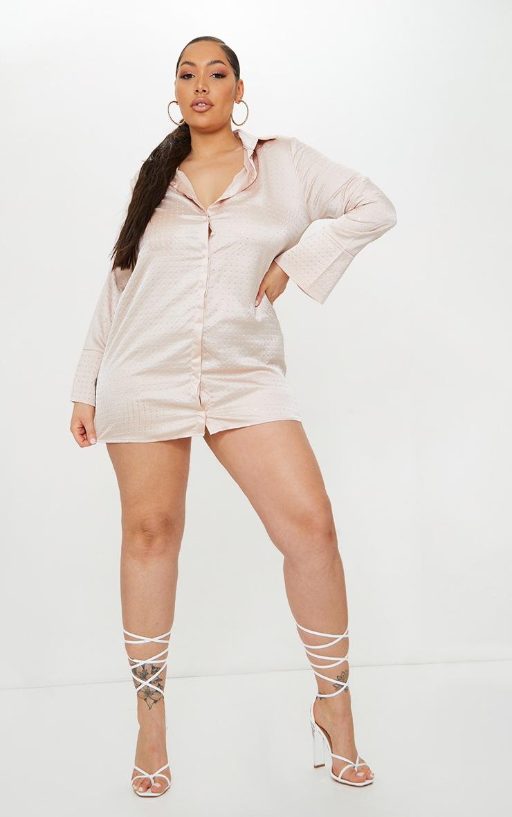 Plus Pink Sparkle Oversized Shirt Dress 3