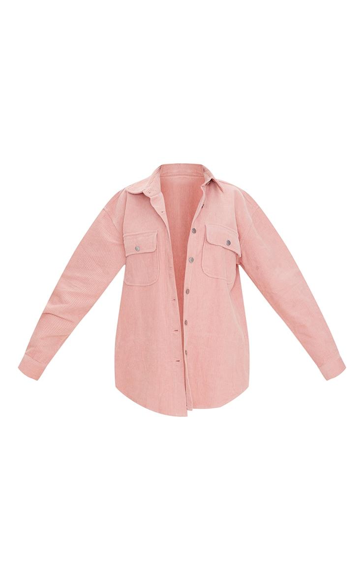 Pink Oversized Cord Shacket 5
