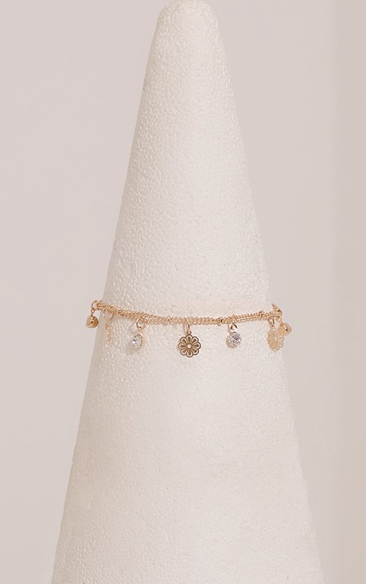 Shaynie Gold Charm Anklet 3