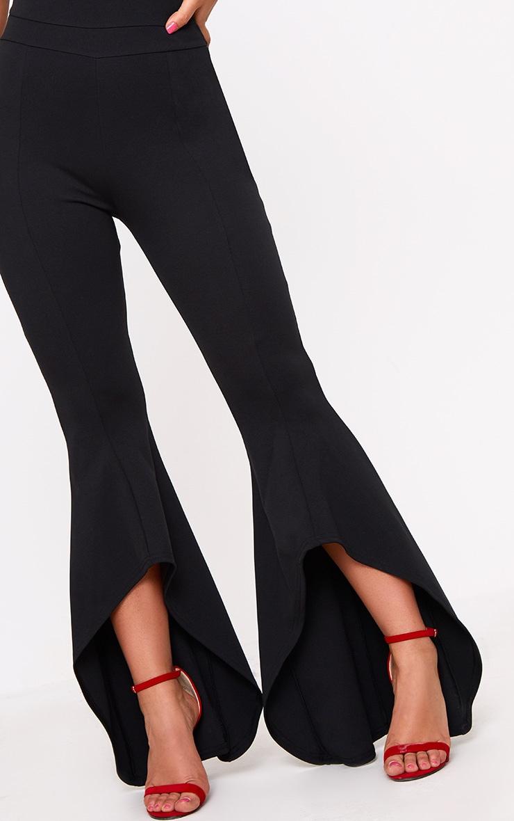 Black Split Leg 90's Neck Jumpsuit 5