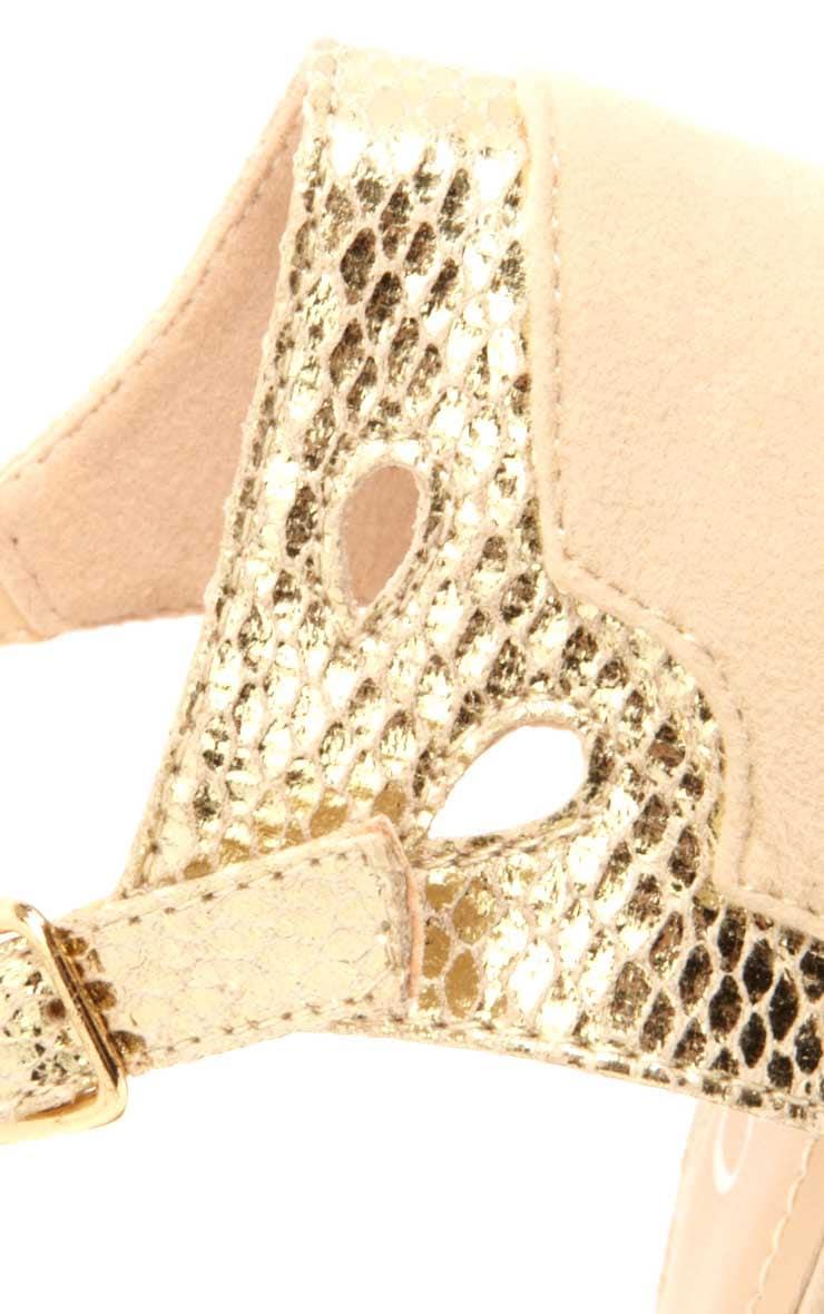 Caitlin Beige Suedette heels 3
