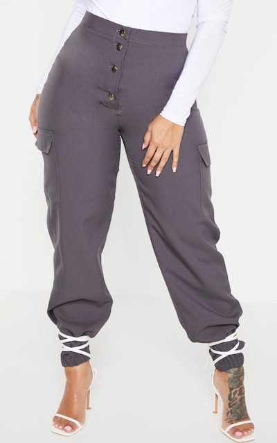 Shape Dark Grey Pocket Detail Cargo Trouser