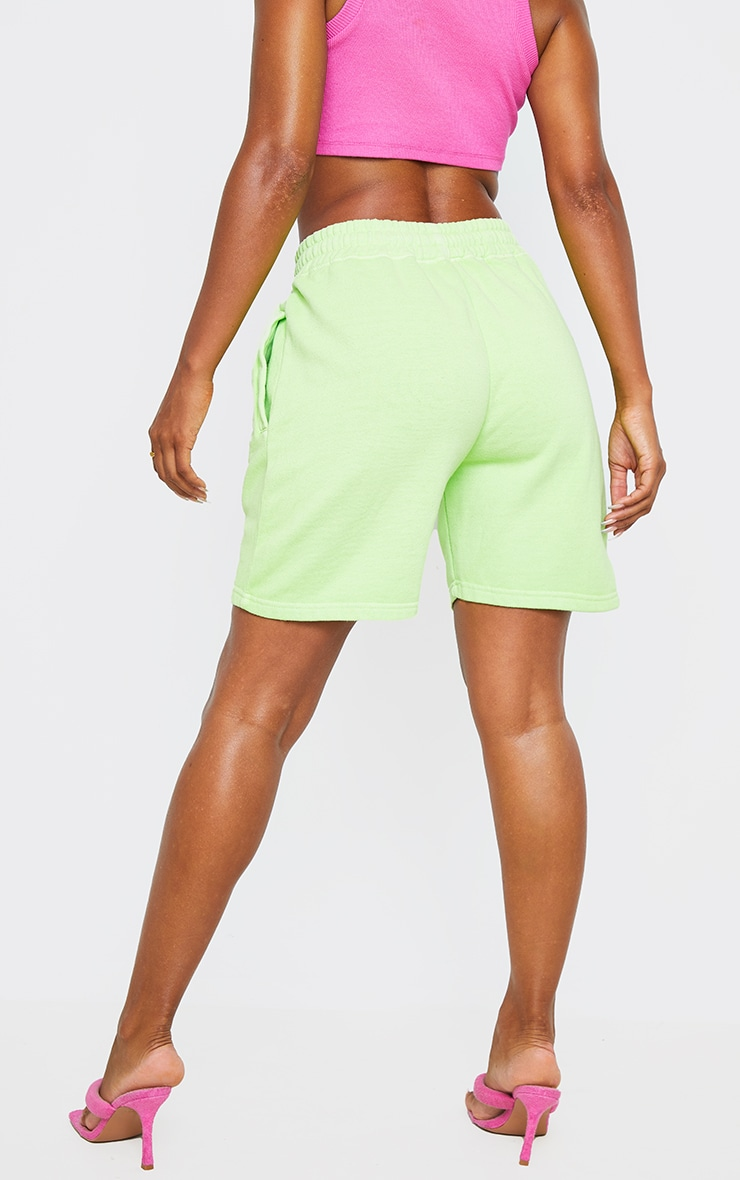 Lime Washed Sweat Runner Shorts  3