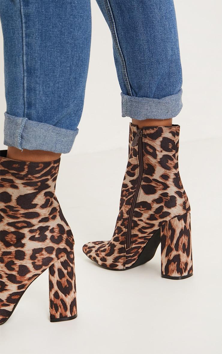 Leopard Print Heel Ankle Boot  2