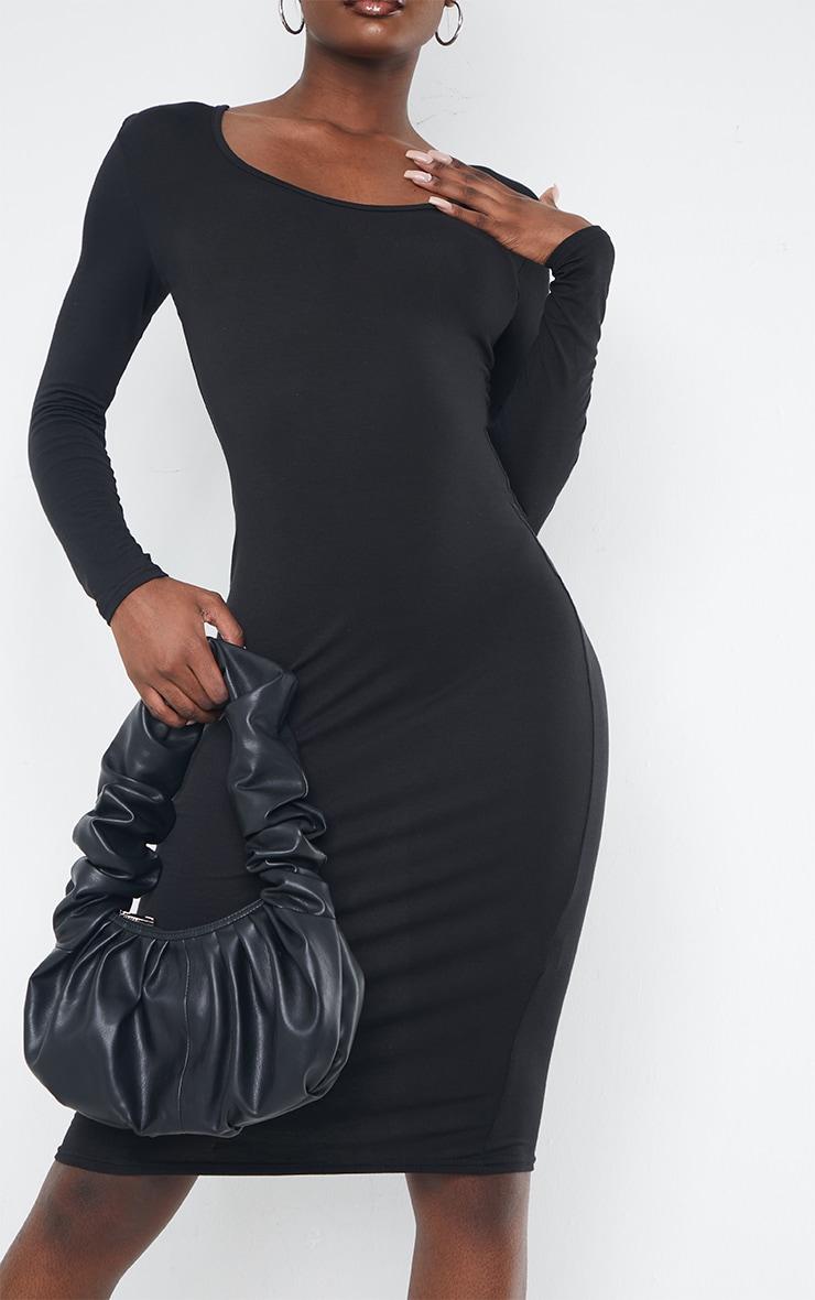 Tall Black Long Sleeve Midi Dress 5