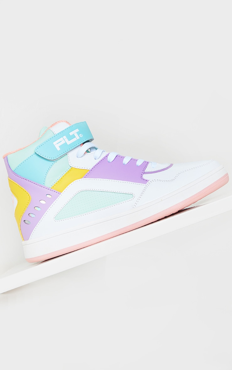 PRETTYLITTLETHING Multi Strap High Top Trainers 4
