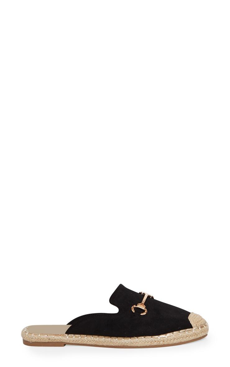 Black Snaffle Mule Espadrille 3