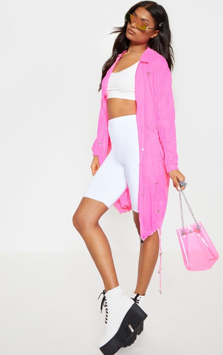 Pink Longline Rainmac 1