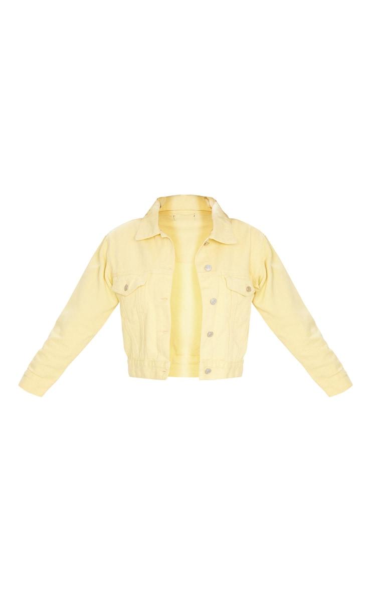 Lemon Cropped Sleeved Denim Jacket 6