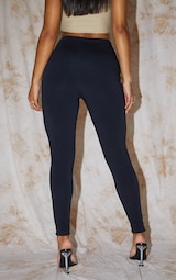 RECYCLED Black Contour Jersey Leggings 3