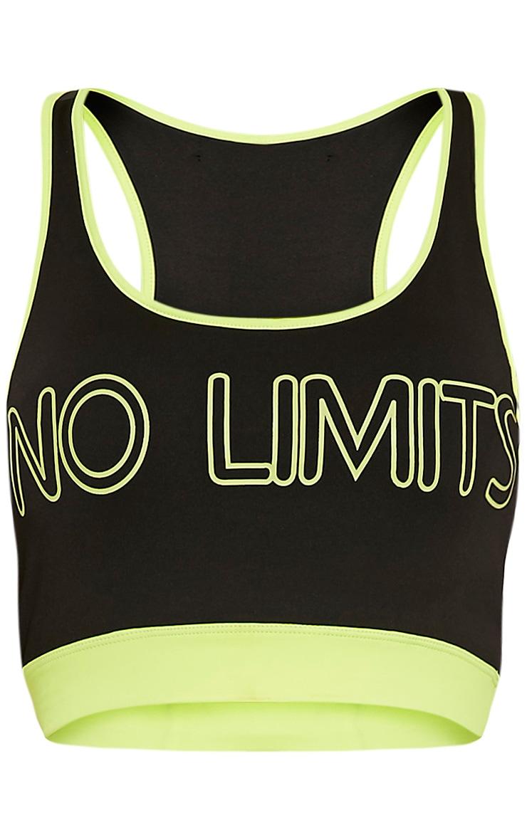 Jaya Yellow 'No Limits' Sports Bra 3