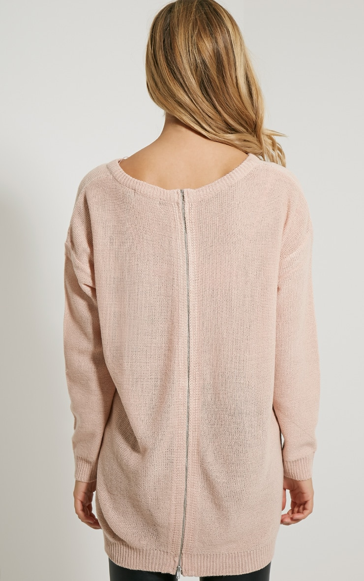 Amia Pink Zip Back Jumper 2