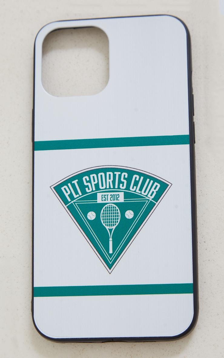 PRETTYLITTLETHING - Coque blanche à imprimé Tennis Club pour iPhone 12 Pro Max 3