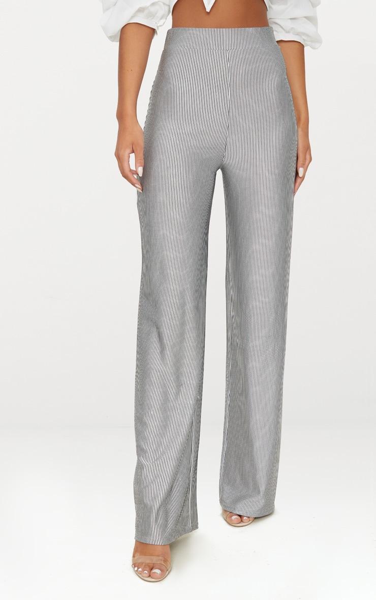 Silver Shimmer Stripe Wide Leg Trouser 2