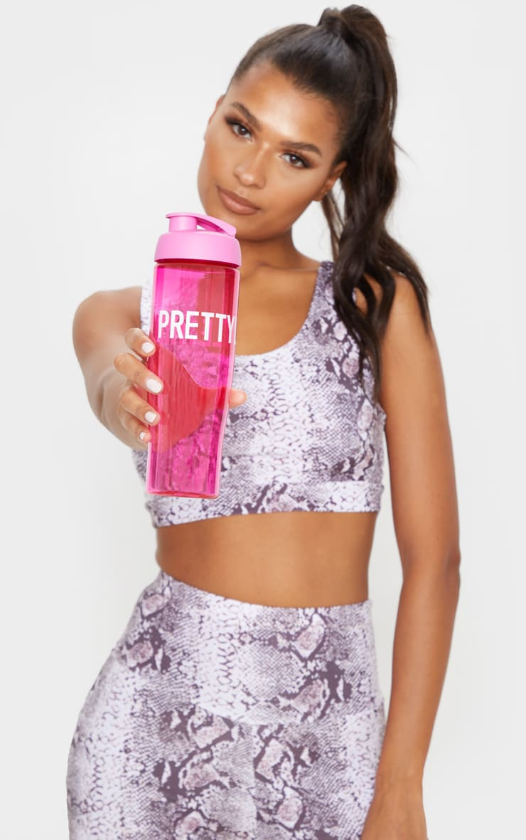 Prettylittlething Pink Water Bottle by Prettylittlething