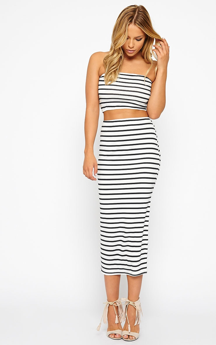 Kyllie Striped Bandeau Top 3