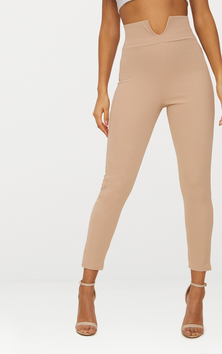 Stone Cut Out Waist Skinny Trouser  2