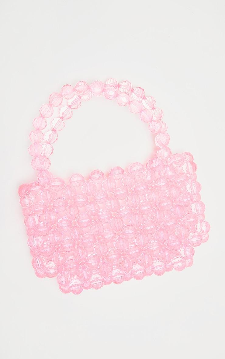 Pink Beaded Hand Bag  2