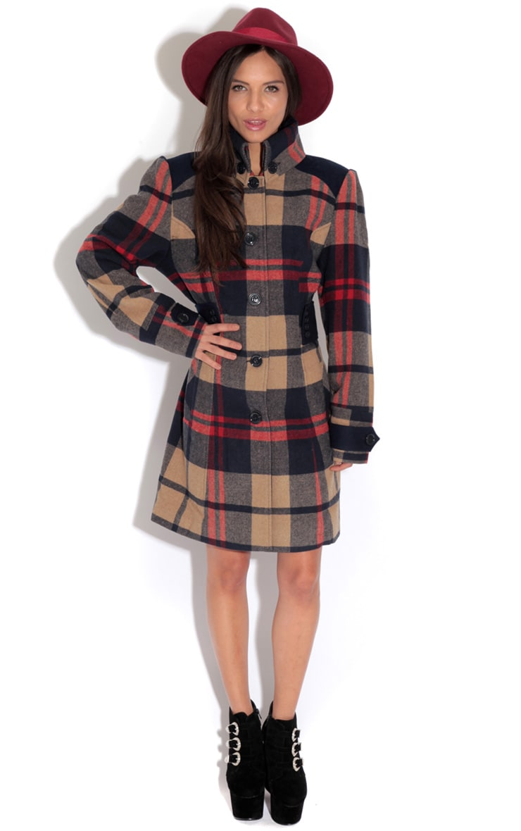 Elise Tailored Tartan Coat 3