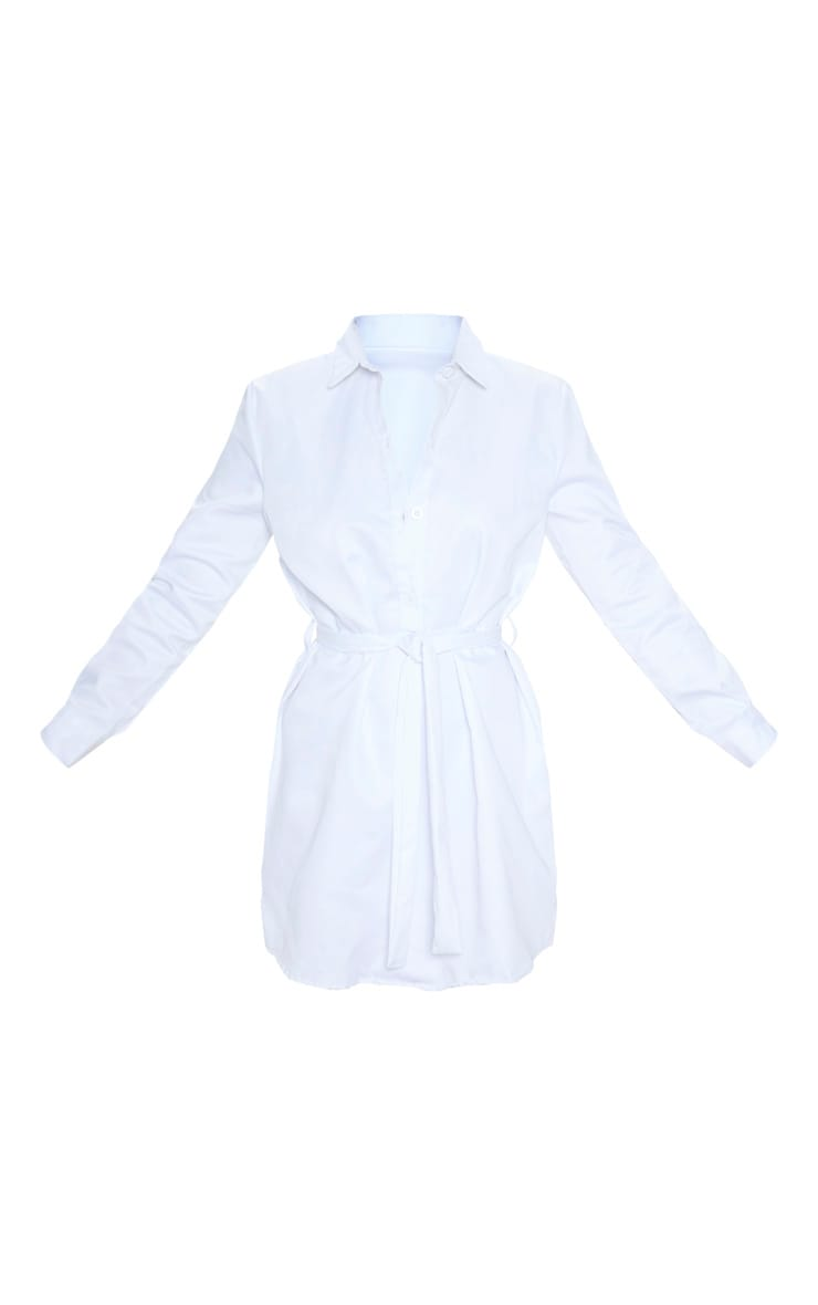 White Pleated Shirt Dress 3