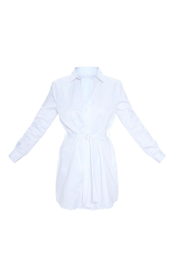Robe chemise plissée blanche 3