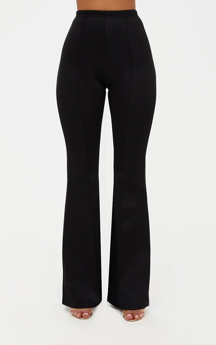 Black High Waist Extreme Flare Long Leg Trousers 2