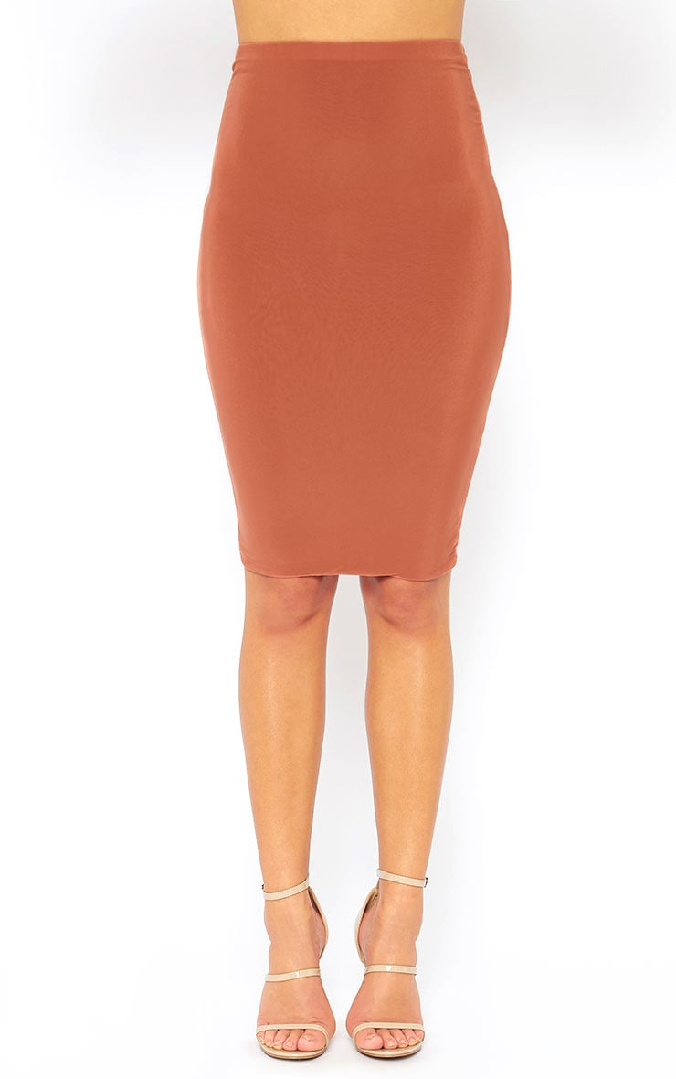 Mulane Rust Midi Skirt 2