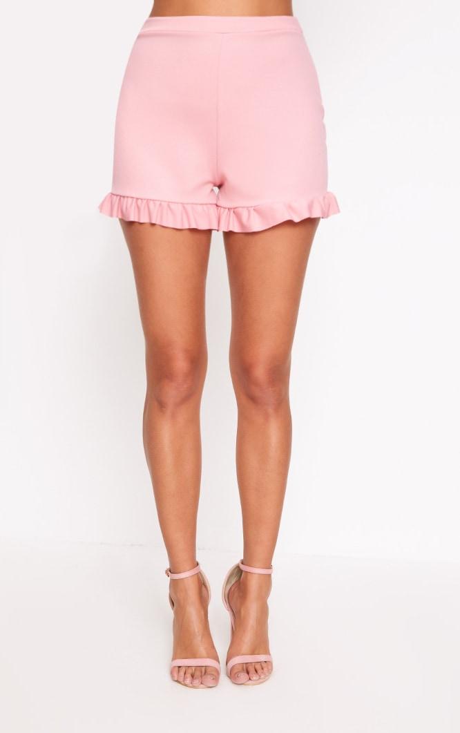 Rose Frill Hem Shorts  2