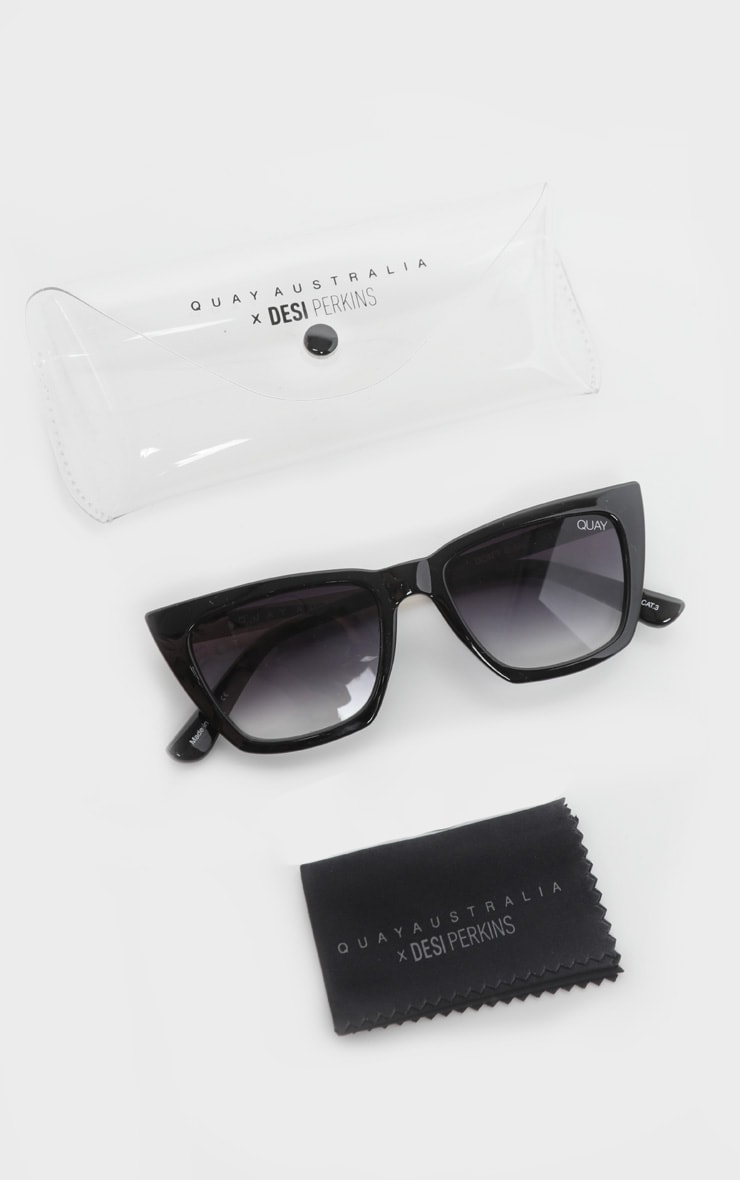 QUAY AUSTRALIA Black Dont At Me Square Sunglasses 5