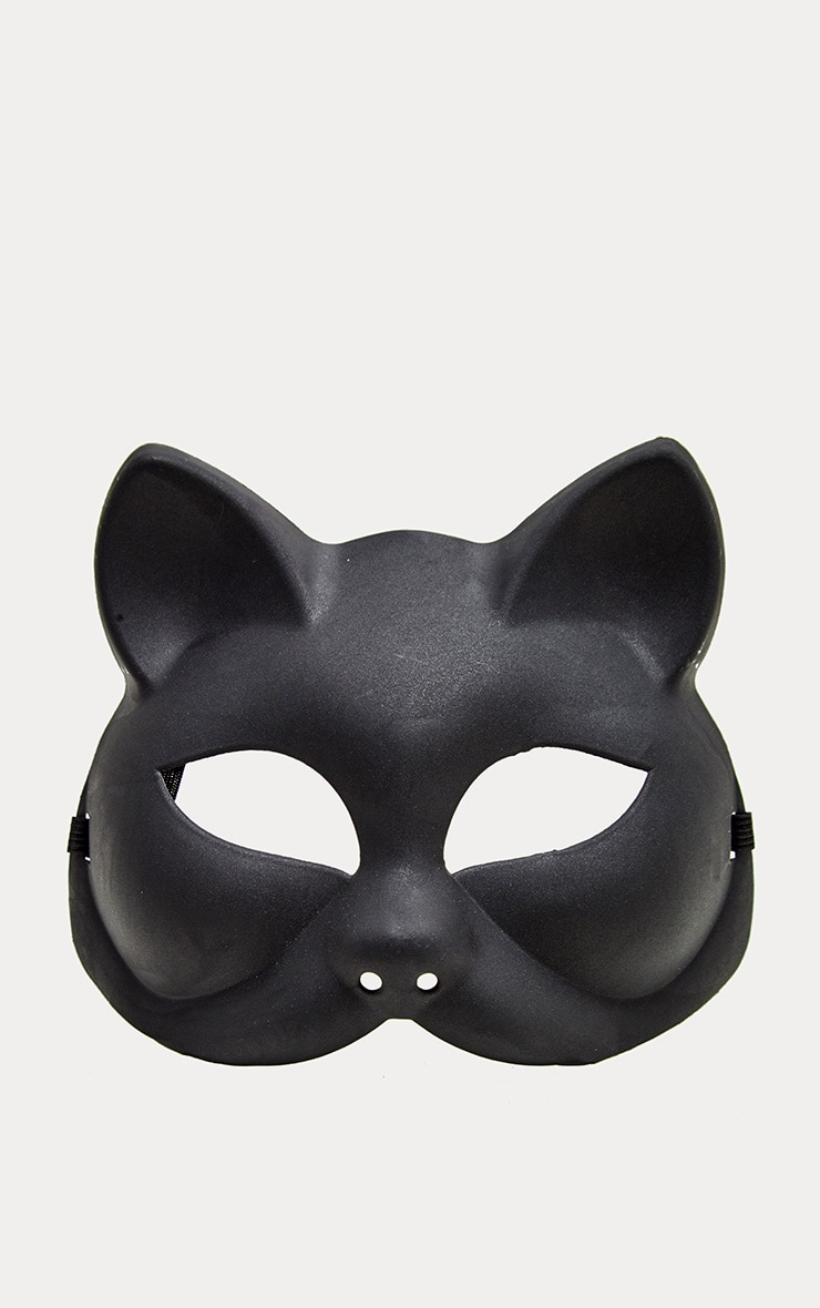 Black Plastic Cat Mask 2