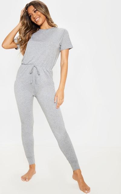 Grey Tie Waist Pyjama Onesie