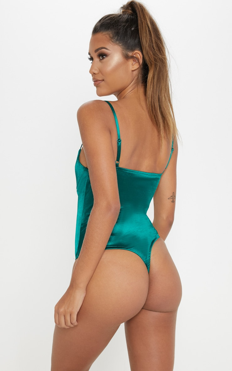 Emerald Stretch Satin Body 2